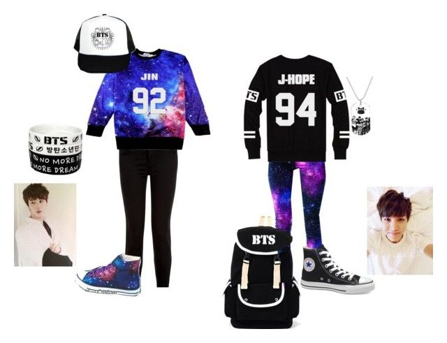 Me and Cheyenne's BTS outfit by keyra-crowe on Polyvore featuring Victoria's Secret, Converse and Retrò
