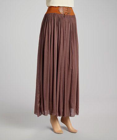 fe5065231 Brown & Tan Ruched Tassel Skirt $21.99   Style   Tassel skirt ...