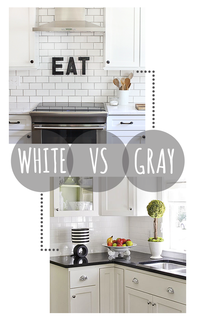 White Vs Gray Grout Colors Kitchen Tiles White Subway Tile