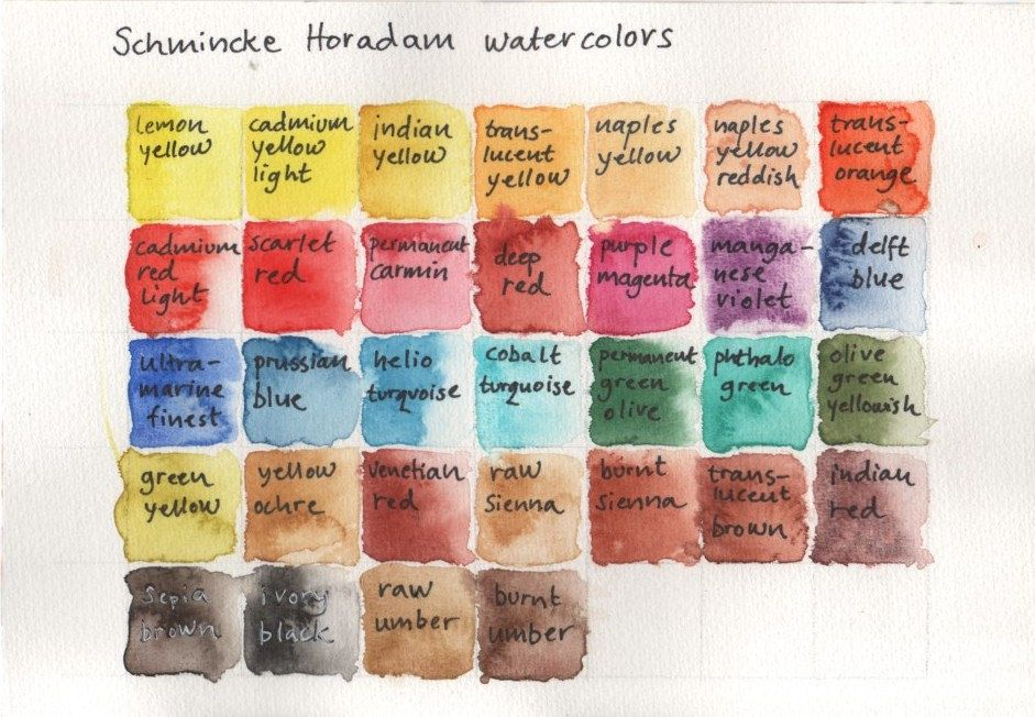 Schmincke Horadam Watercolors Watercolor Pallet Watercolor
