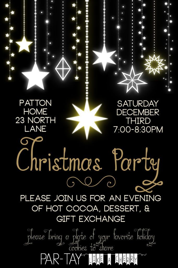 free editable christmas party invitation- so elegant! this will be