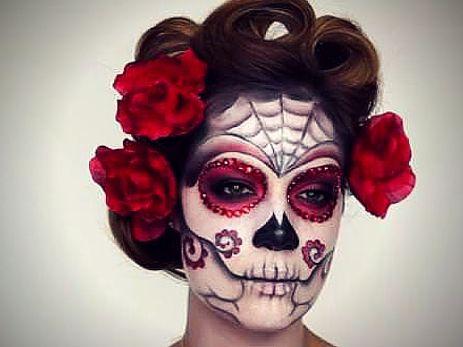2 easy makeup looks for halloween  sugar skull makeup