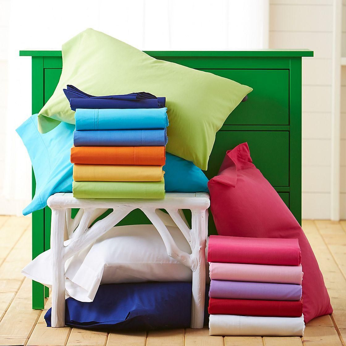 Classic percale fitted sheet queen the company store