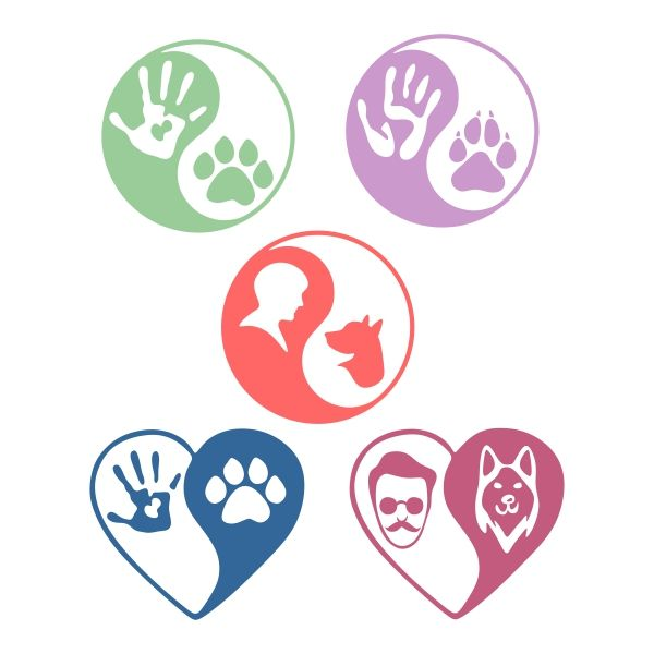 People And Dogs Cuttable Design Cut File Vector Clipart Digital Scrapbooking Download