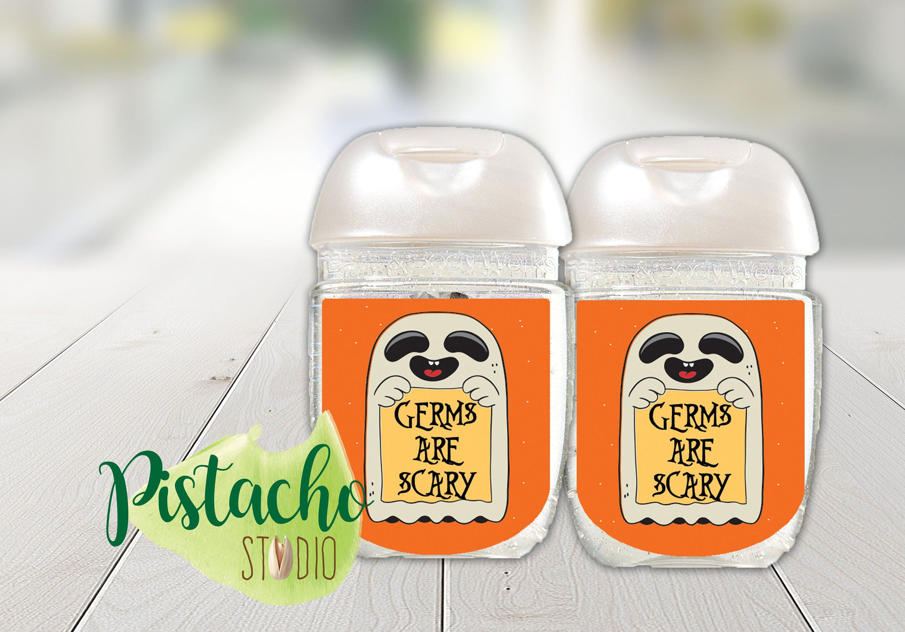 Germs Are Scary Halloween Sanitizer Label Halloween Favor School