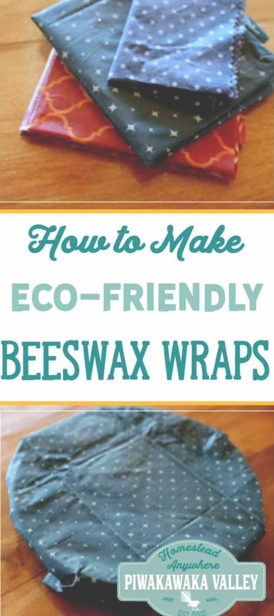 Make your own beeswax wraps as an eco-friendly alternative to clingfilm or plastic wrap. This recipe uses jojoba oil and beeswax to make a nice clingy wrap. how to make beeswax wraps, diy, make at home, zero waste kitchen #jojobaoil