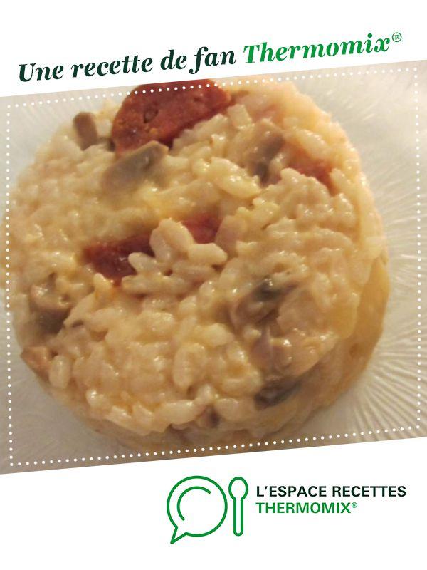 Recette Risotto Poulet Champignon : recette, risotto, poulet, champignon, Risotto, Poulet, Champignon, Chorizo, Recette, Champignon,, Poulet,