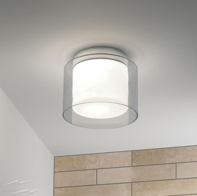 Astro lighting arezzo bathroom ceiling light in polished chrome and clear outer glass ip44 by