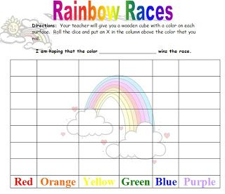 Kindergarten Rainbow Worksheets