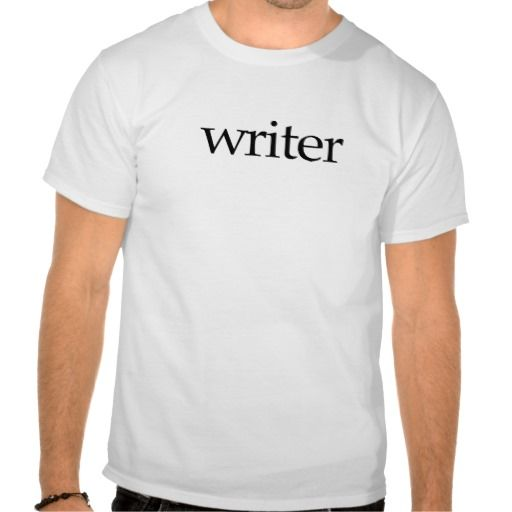 Writer Self-Promo Tshirt—Lots of shirt colors to choose from, too!