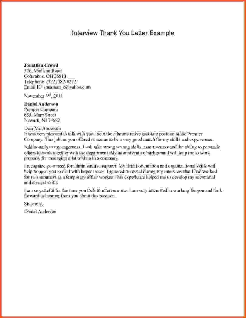 Residency Thank You Letter Sample New Letter After W In 2020