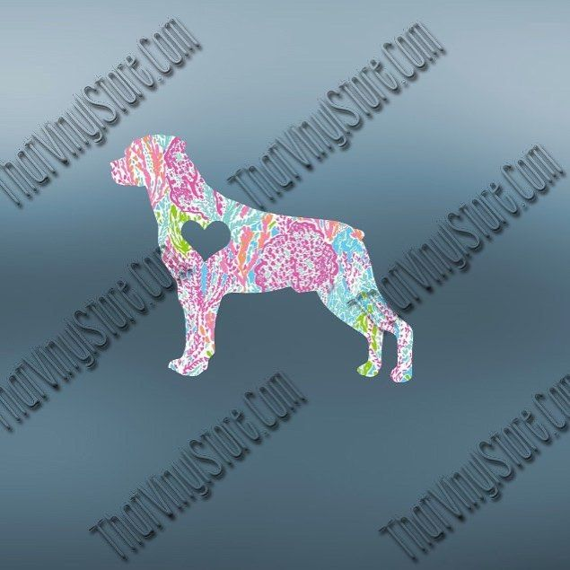 New decal design added to the shop! rottweiler dogmom