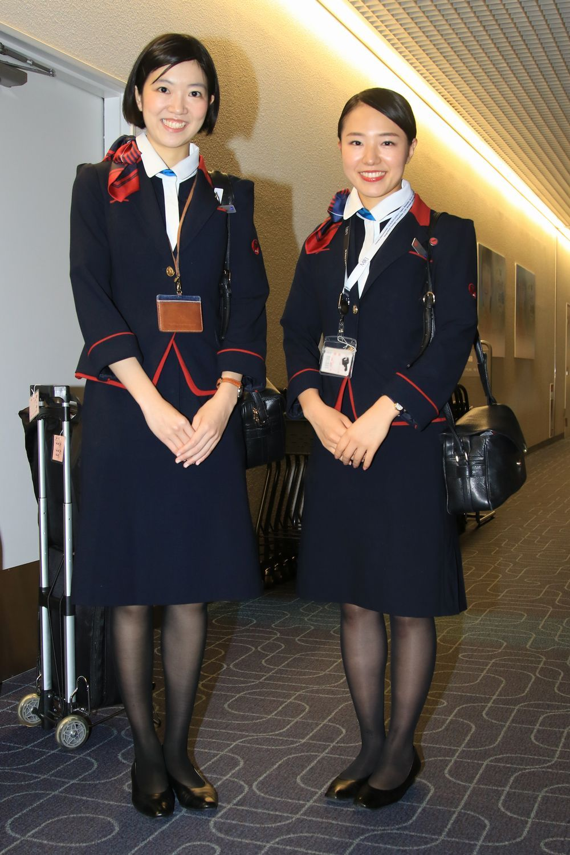 Рукой японские стюардессы со своими услугами легинсы