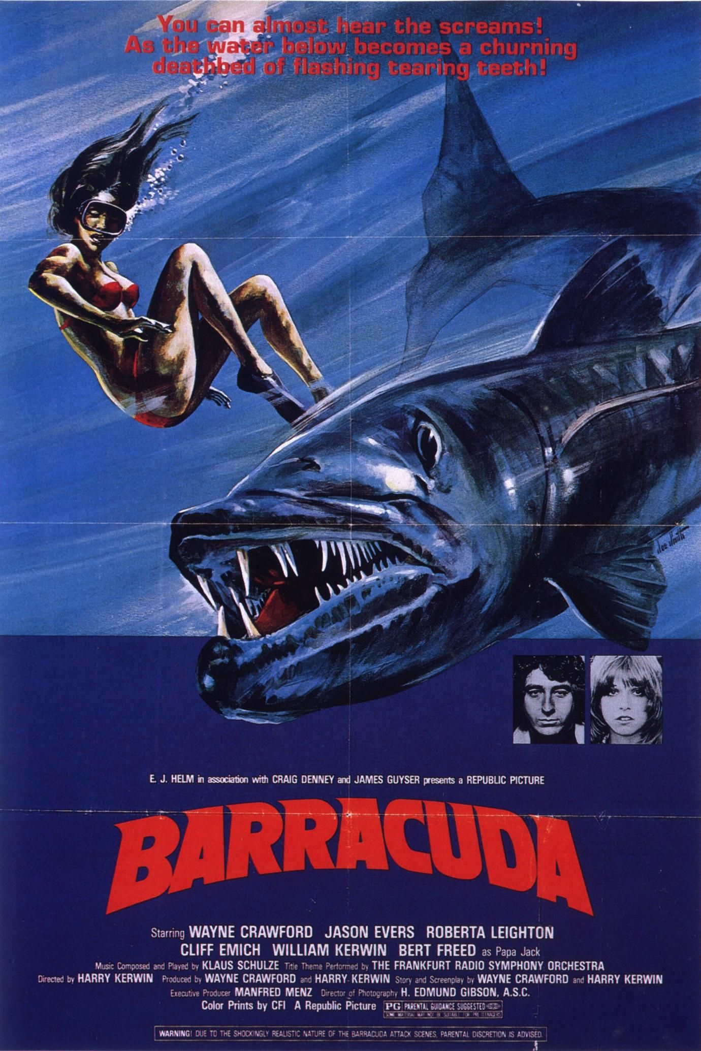 Barracuda (1978) Movie posters, Movie posters vintage