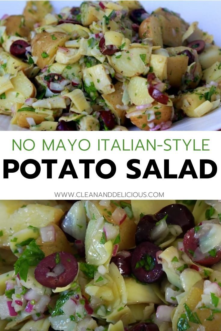Italian style mayofree potato salad video recipe