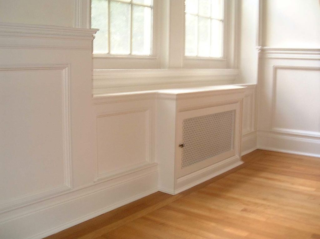 Chair Rail Under Window Part - 50: Radiator Cover Blends In With Trim Detail. We Wonu0027t Have The Molding Under
