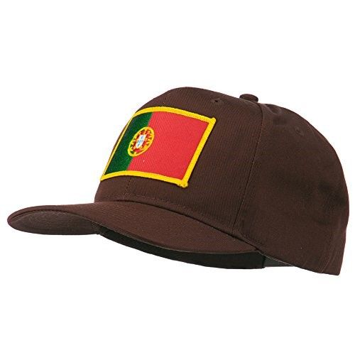 Europe Portugal Flag Patched Cap - Brown Osfm, Men's