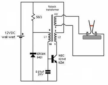 b093e0bd76b2fe2b21297efc7214beff Flyback Transformer Wiring Schematic on