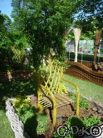 Fauteuil en osier vivant fauteuil v g tal en osier for Jardin vivant