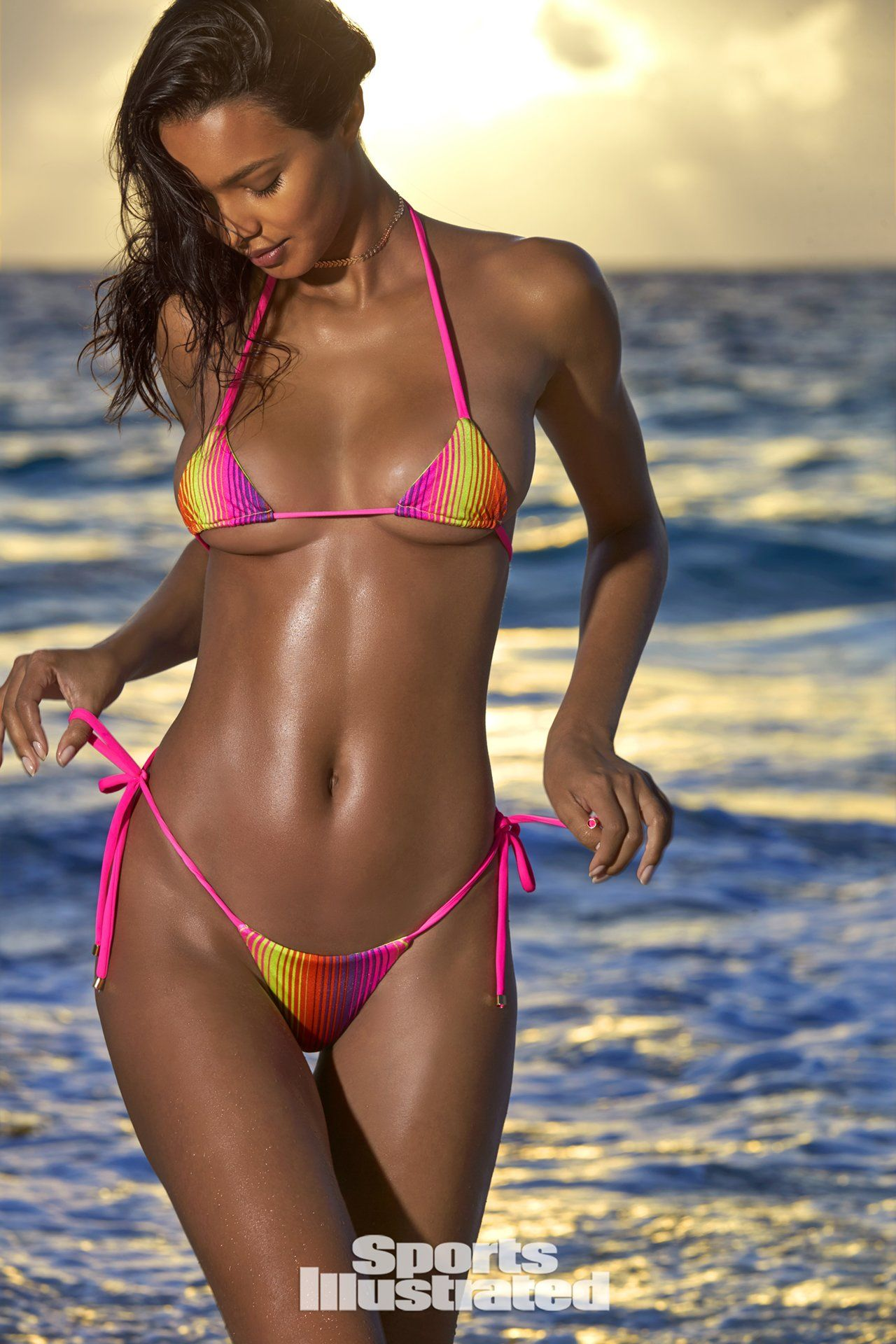 f081194bad Lais Ribeiro was photographed by Ben Watts in the Bahamas. Swimsuit by Ola  Vida.