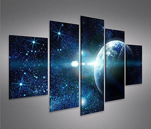 Bild Bilder auf Leinwand Sterne Weltall Space MF XXL Poster