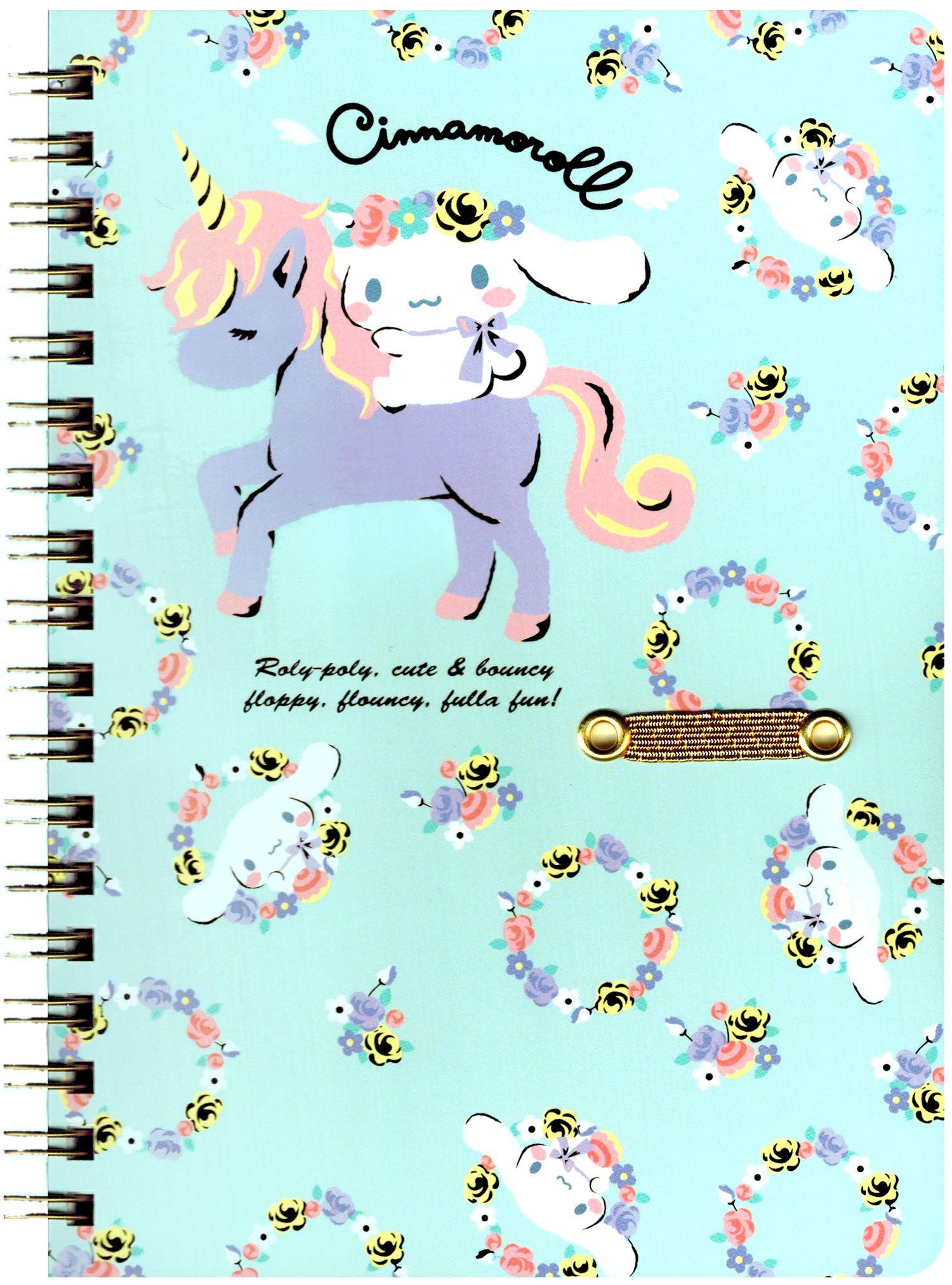 Sanrio Cinnamoroll Unicorn B6 Hard-Cover Notebook