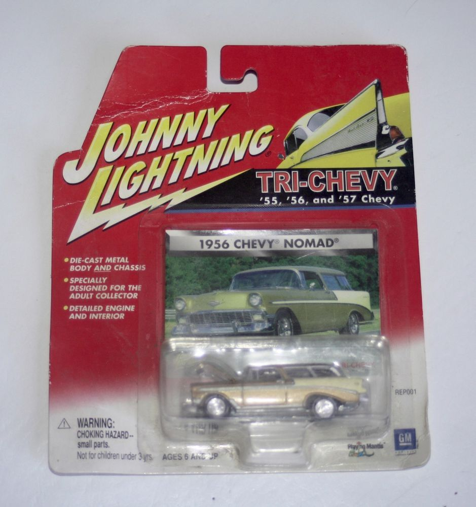JOHNNY LIGHTNING 1960 AMC RAMBLER WAGON CUSTOM BLACK W FLAMES VS A REL 1 NO 2