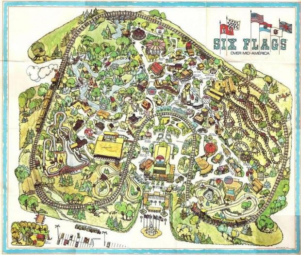 Map Of 6 Flags Great America.Still A Thrill Six Flags After 40 Years Six Flags Over Mid