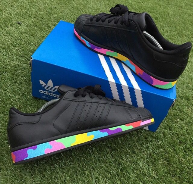 Custom Custom SuperstarKicks Adidas SuperstarKicks Black Custom Shoes Adidas SuperstarKicks Black Shoes Adidas Black xdoreWCB