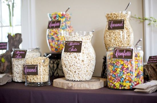 Great Popcorn Bar For A Baby Shower Graduation Wedding Or Just