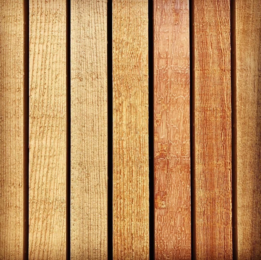 Material Matters Sample Of Western Red Cedar Vertical Wood