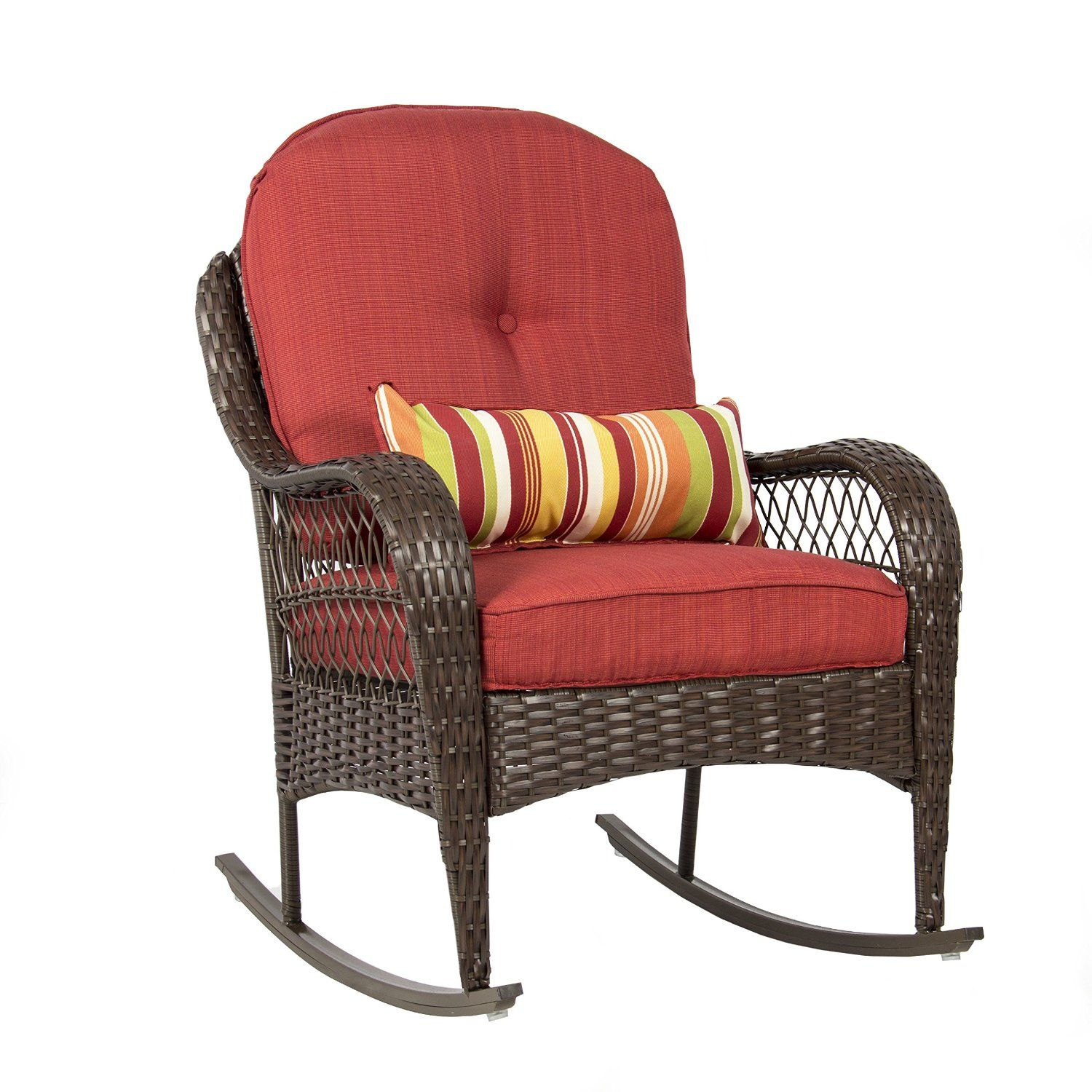 Best Choice Products Wicker Rocking Chair Outdoor Rocking Chairs Outdoor Wicker Rocking Chairs Rocking Chair Porch