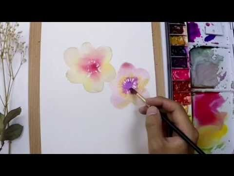 Level 1 Q Tips Cotton Buds How To Watercolour Painting