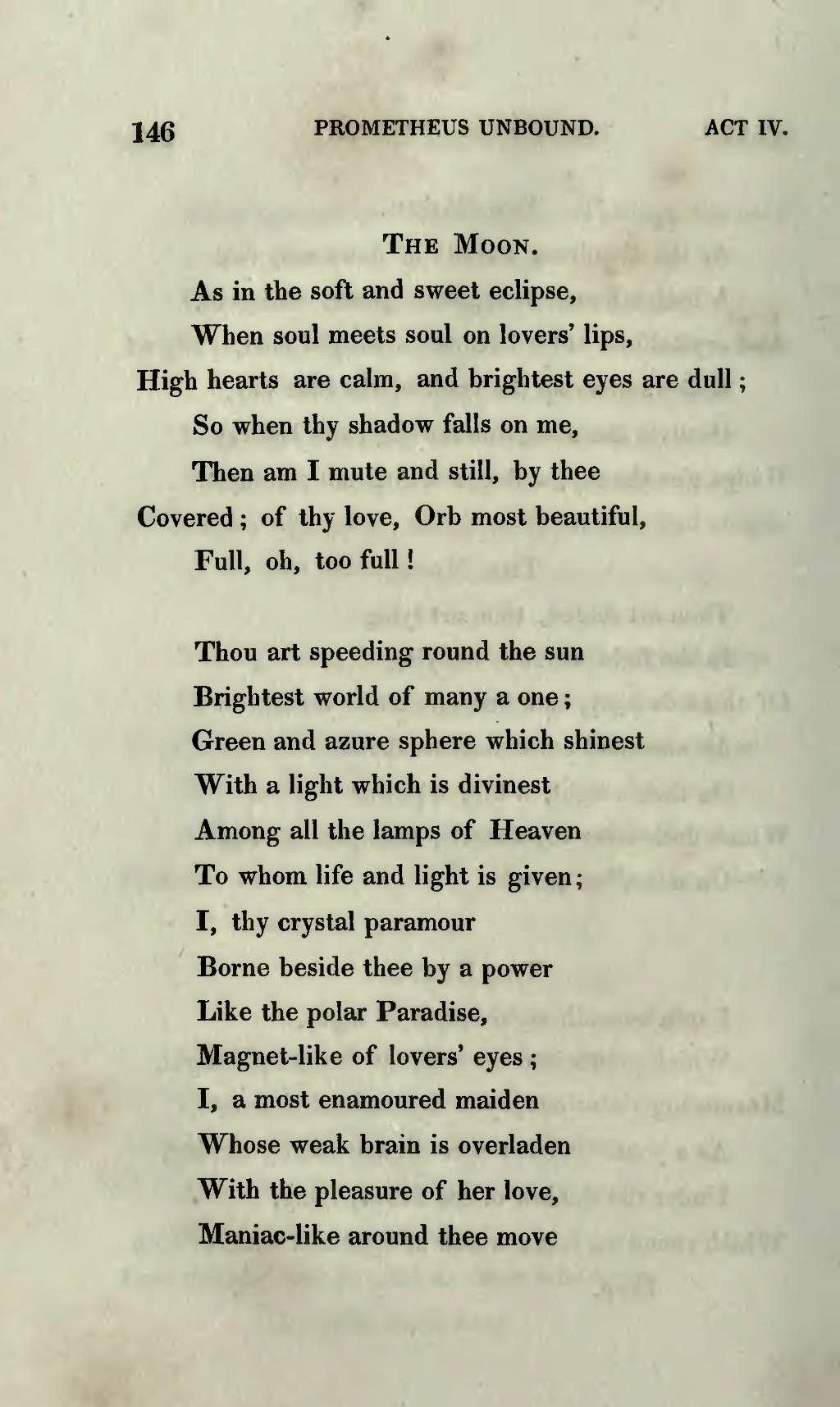 Prometheus Unbound By Percy Bysshe Shelley C 1820 Found Poetry Shadow Fall Poetry