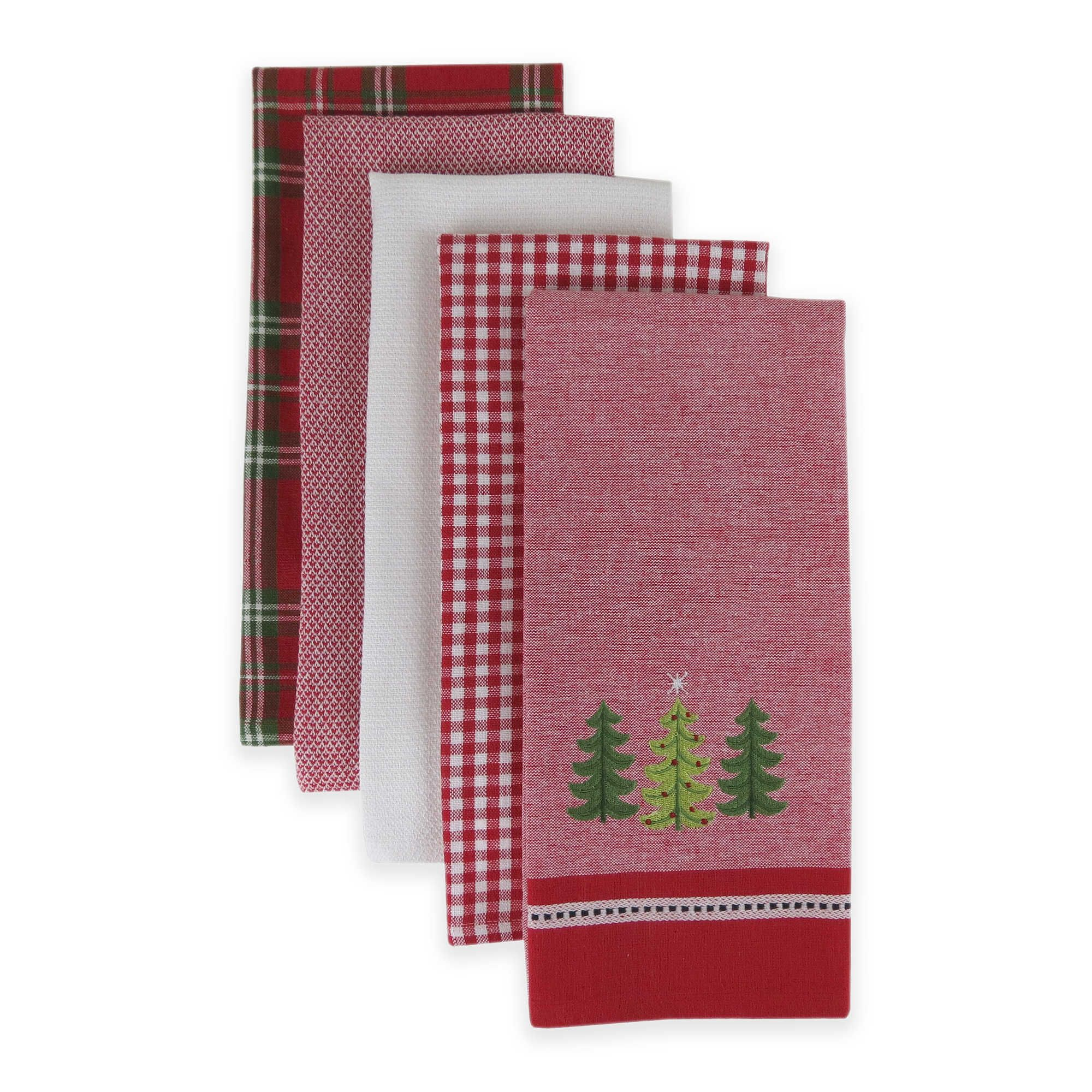 Holiday Trio Kitchen Towels Set of 5