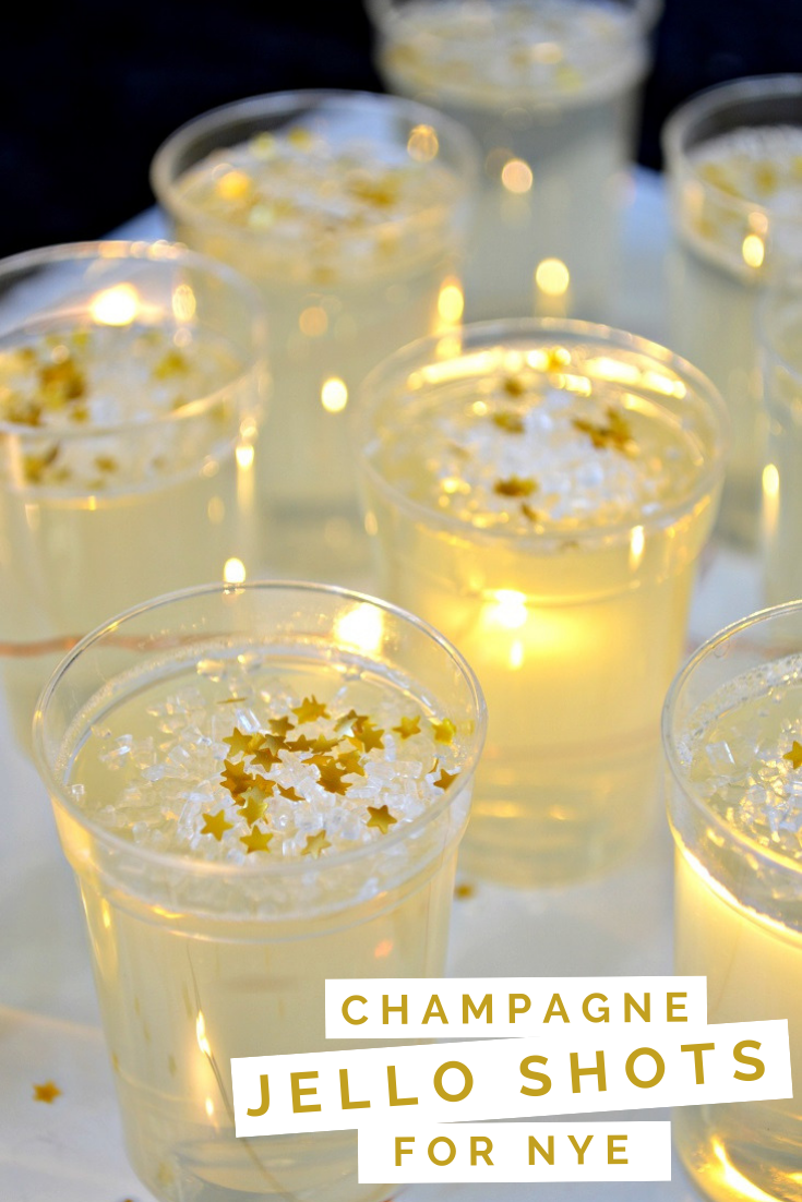 CHAMPAGNE JELLO SHOTS FOR NEW YEAR'S EVE Dessert Mad in Crafts