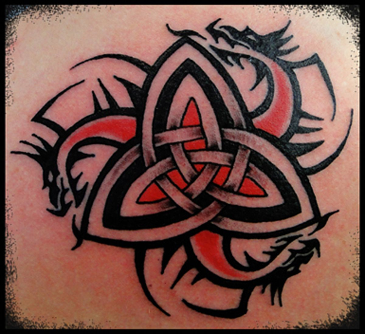 tattoo celtic dragons trinity knot viking nordic pagan druid dragon tattoos pinterest. Black Bedroom Furniture Sets. Home Design Ideas