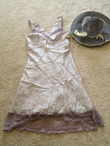 $15-Flower Print Lace Purple 100 Silk Dream Dress | eBay