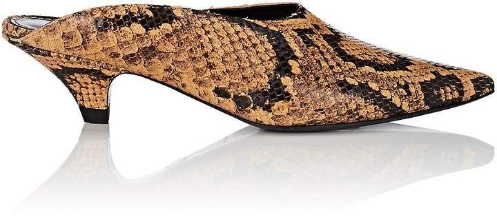 Womens Kitten-Heel Stamped Leather Mules Proenza Schouler EFOHxvT