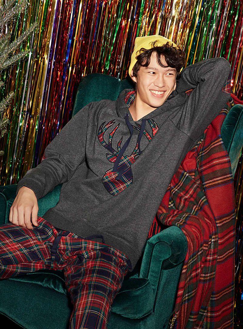 Tartan deer lounge hoodie Le 31 Shop Men's Pyjamas