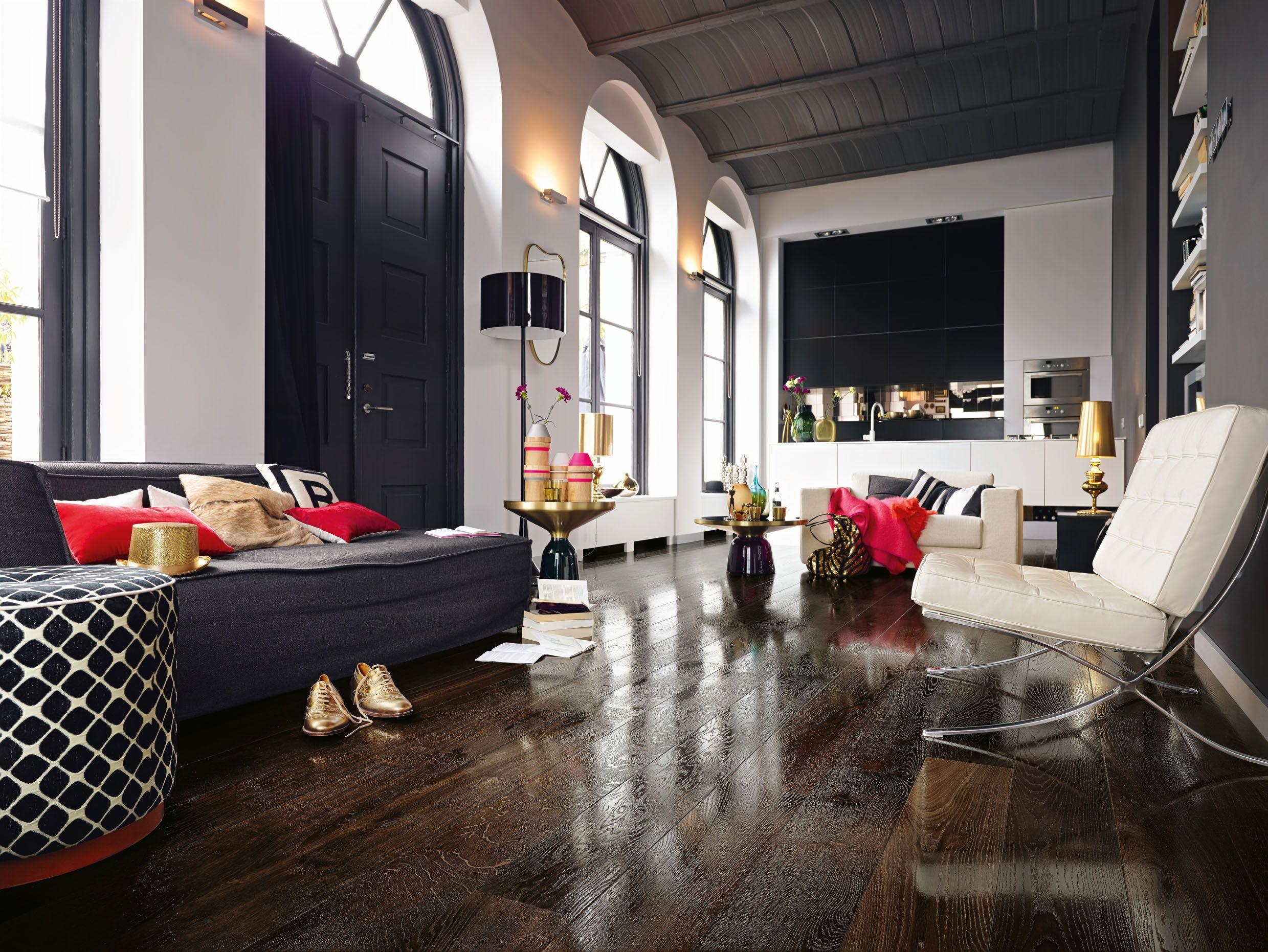 meister parkett pd 400 eiche lebhaft kernger uchert 8303 geb rstet hochglanzlackiert. Black Bedroom Furniture Sets. Home Design Ideas