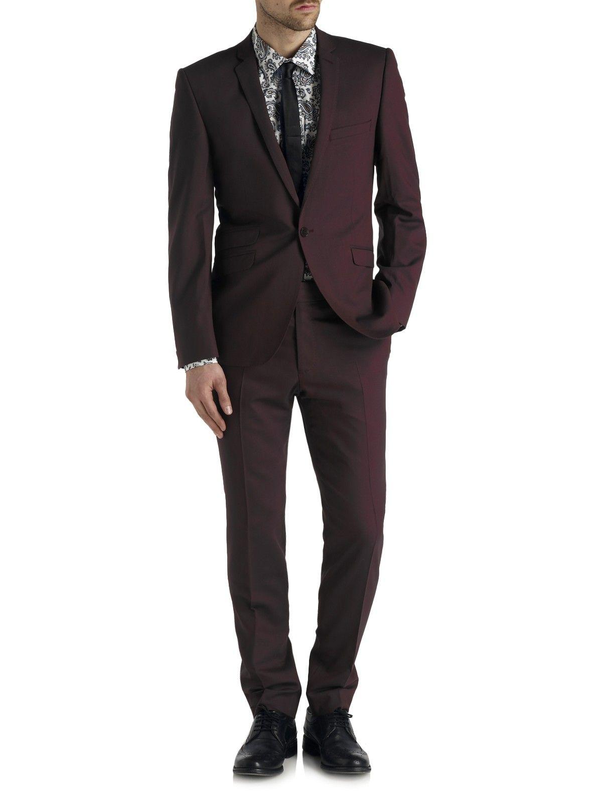 9a48a318302 Notch Lapel Plum Suit Jacket | My Style | Suits, Checked shirt, Suit ...