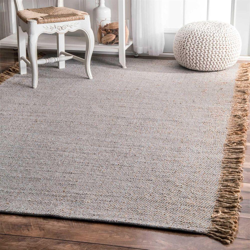 Nuloom Area Rug Hctr01b Grey Flatweave Solid Tel Amalia