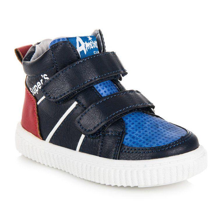 Buty Sportowe Dzieciece Dla Dzieci Americanclub Niebieskie Obuwie Nad Kostke American Club Baby Shoes Shoes Fashion