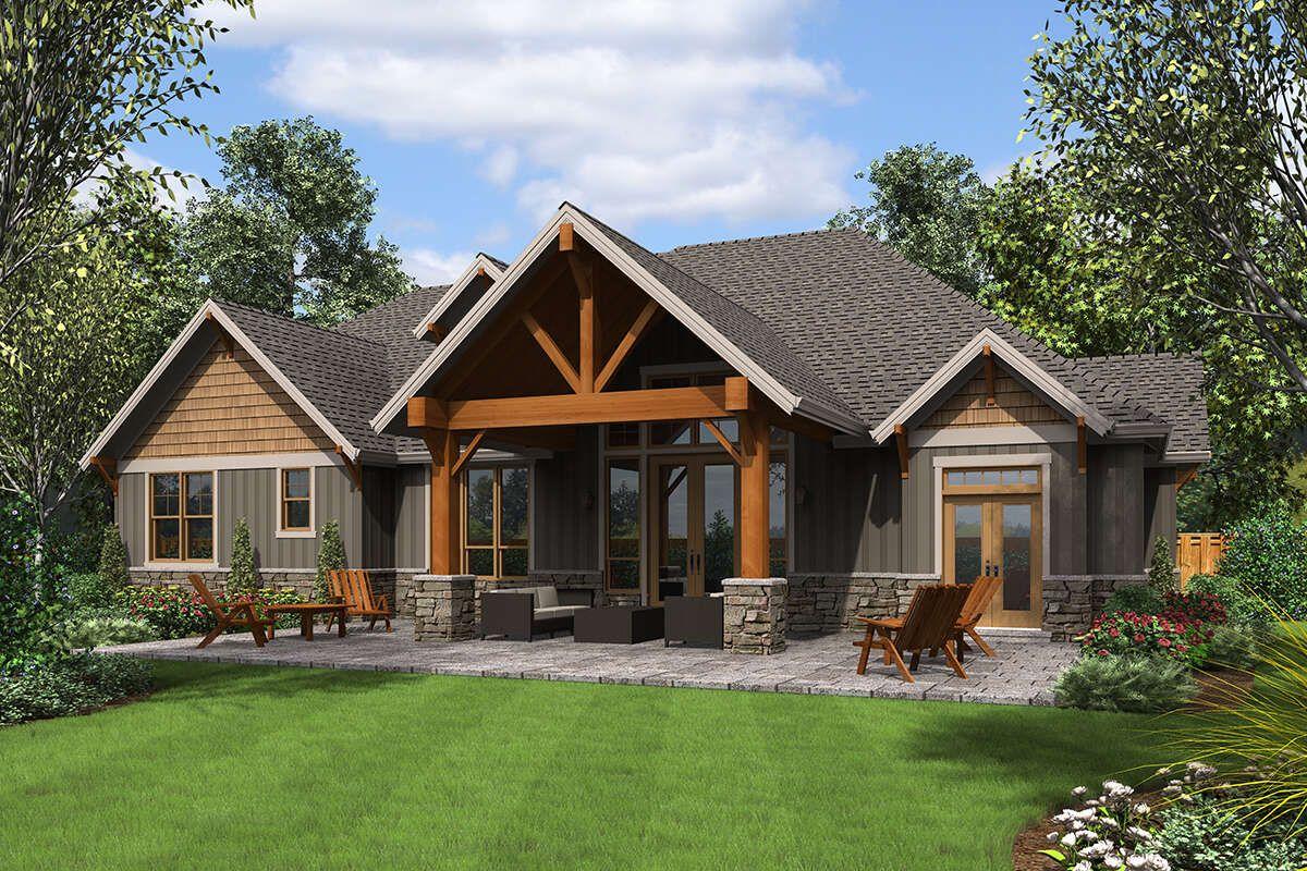 House Plan 2559 00886 Craftsman Plan 3 340 Square Feet 4 Bedrooms 4 Bathrooms In 2021 Craftsman Style House Plans Craftsman House Plans Craftsman House Plan