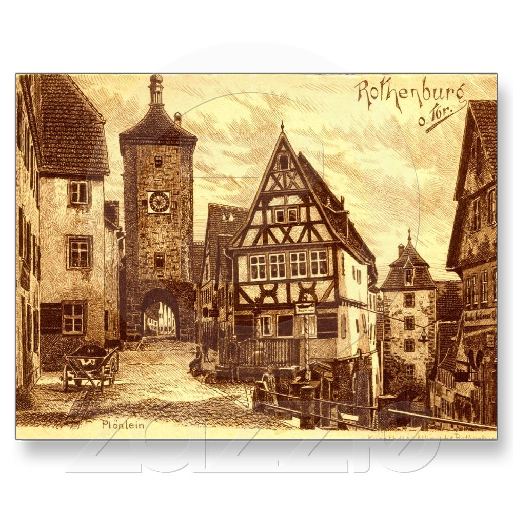 Rothenburg Germany 1907....hasn\'t changed much in appearance ...