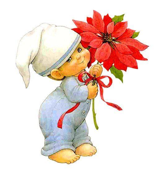 Картинки мальчик с цветами нарисованный, бумаги