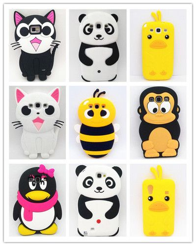 newest 66789 29695 3D Cute Cartoon Design for Samsung Galaxy S2 S3 NOTE2 S5830 Silicone ...