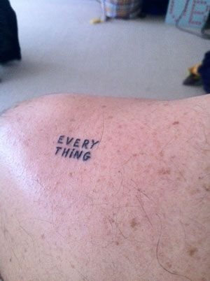 Do you have a tattoo of a Shrigley image?