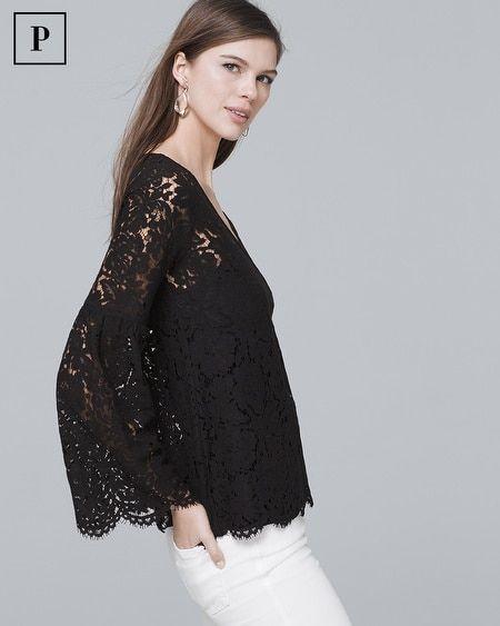 81ce1de5c6b4c Women s Petite Long-Sleeve Allover Lace Top by White House Black Market